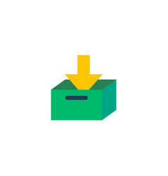 Archive icon flat element of vector