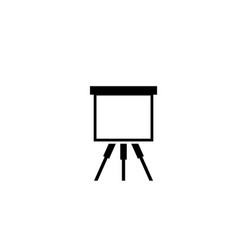 artist easel flat icon vector image
