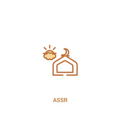 Assr concept 2 colored icon simple line element vector