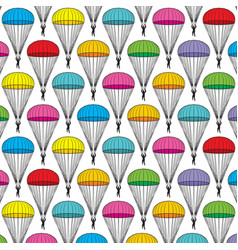 Background pattern with parachutes vector