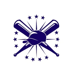 Baseball icon or emblem vector image
