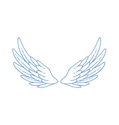 Beautiful wide open angel or bird wings vector