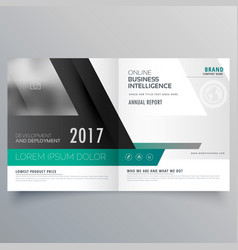 Bifold brochure template design with abstract vector