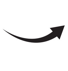 black arrow icon on white background flat style vector image