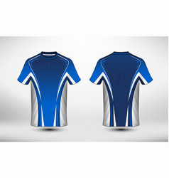 Blue and white layout e-sport t-shirt design vector