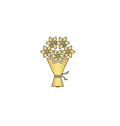 bouquet computer symbol vector image