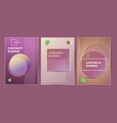 brochure template layout design corporate vector image