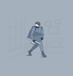 Burglary crime robbery theft concept vector