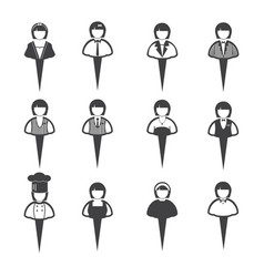 business people icons women vector image