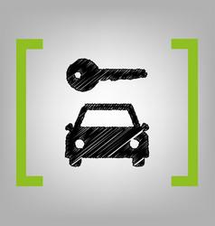 Car key simplistic sign black scribble vector