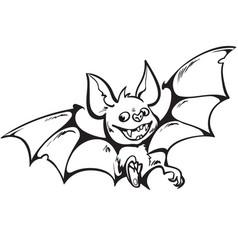 cartoon cute happy vampire bat halloween vector image