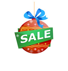 christmas sale isolated sticker vector image
