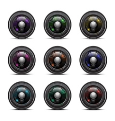 Colorful Camera Lens vector image