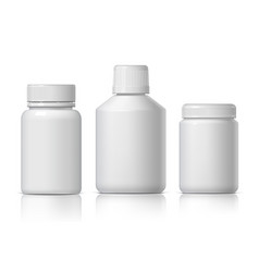 cool realistic white plastic bottle product vector image
