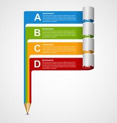 Creative infographics design template vector