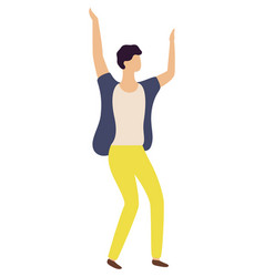 dancing guy in yellow trousers isolated dancer vector image