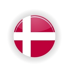 Denmark icon circle vector image