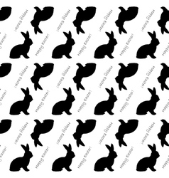 Design seamless Easter bunny rabbits pattern vector image
