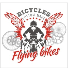 Designs with Flying Bicycle for fashion vector