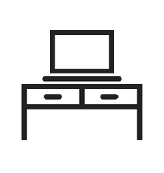 Desk and Laptop vector