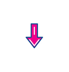 download color thin line icon for web vector image