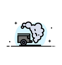 Dump environment garbage pollution business flat vector