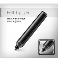 Felt tip pen idea vector