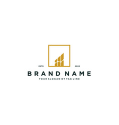 Financial chart logo design vector