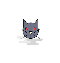 flat cat icon vector image