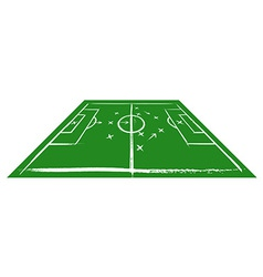 Football field in perspective vector