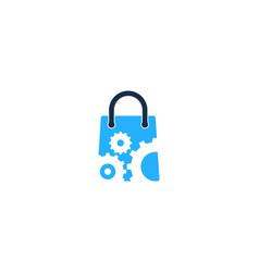 gear shopping logo icon design vector image