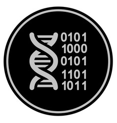 Genome black coin vector