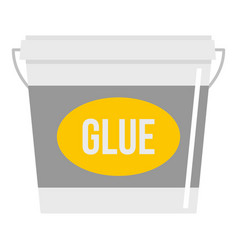 Glue bucket icon isolated vector
