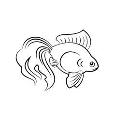 Goldfish silhouette icon vector
