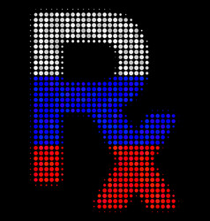 Halftone russian rx symbol icon vector