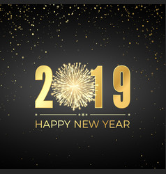 happy new year 2019 greeting card text design new vector image