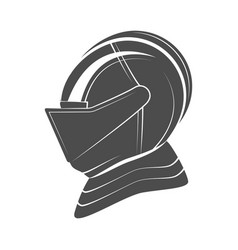 Head of a knight in armor vector