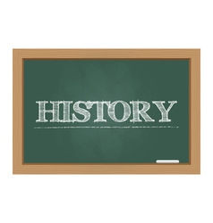 History text on chalkboard vector