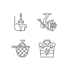 Hobby and leisure activities linear icons set vector
