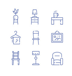 Home furniture minimalist concept vector