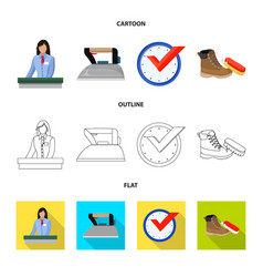 isolated object of laundry and clean icon vector image