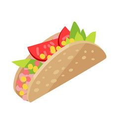 mexican hotdog isolated on white sonoran hot dog vector image