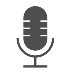 microphone glyph icon musical and audio record vector image