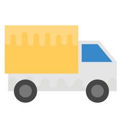 Mini truck flat icon vector