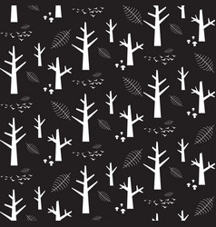 Monochrome seamless pattern with white vector