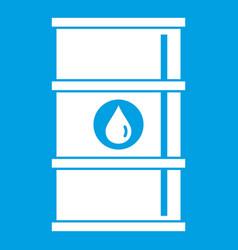 Oil barrel icon white vector