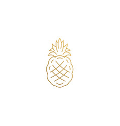 outline icon tropical pineapple hand drawn vector image
