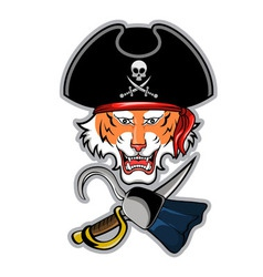 Pirate Tiger vector