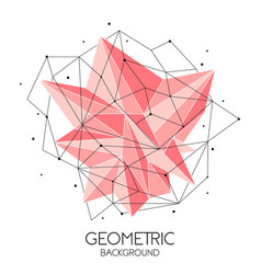 polygonal pink abstract futuristic template low vector image