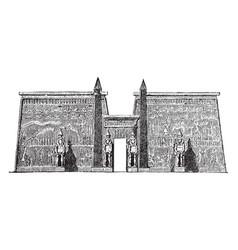 pylon at the palace at luxor amun vintage vector image